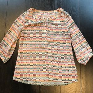 BR Pixelated Flowy Top Size S